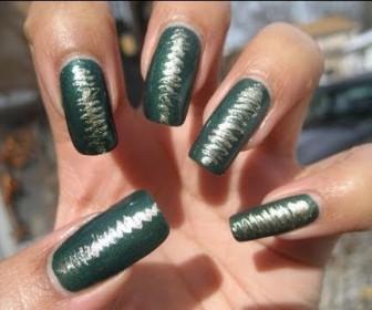 016 336x280 - Νύχια με σχέδιο πράσινο και χρυσό Nail Art Tutorial