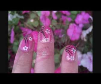 024 336x280 - Νύχια με σχέδιο άνθη κερασιάς Cherry Blossom Nail Tutorial