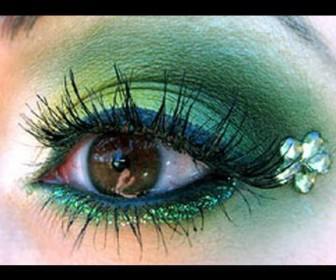 03 336x280 - Μακιγιάζ πράσινο και κίτρινο Makeup