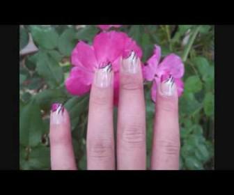 06 336x280 - Νύχια γαλλικό μανικιούρ με ροζ άκρη - Fun and Elegant Pink French Tip Nail Tutorial