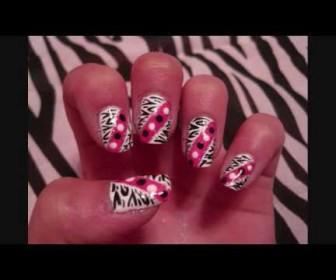 01 336x280 - Νύχια με Zebra Print και πουά Zebra Print and Polka Dots Nail Tutorial
