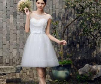konta nifika foremata 1 336x280 - Κοντά νυφικά φορέματα