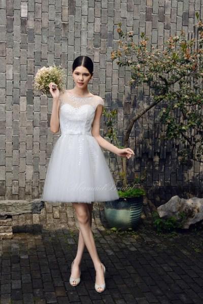 konta nifika foremata 1 - Κοντά νυφικά φορέματα
