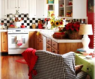 diakosmisi kouzina 4 336x280 - Καρό διακόσμηση στην κουζίνα