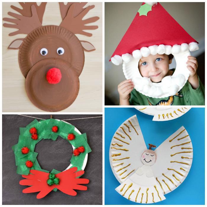 25 christougenniatikes kataskeves gia pedia chartina piata 5 - 25 Χριστουγεννιάτικες κατασκευές για παιδιά με χάρτινα πιάτα