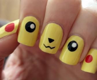 027 336x280 - Νύχια με σχέδια Pokemon: Pikachu Nails