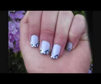 018 336x280 - Νύχια με funky μωβ πουά σχέδιο Funky Purple French Tip Nail Tutorial