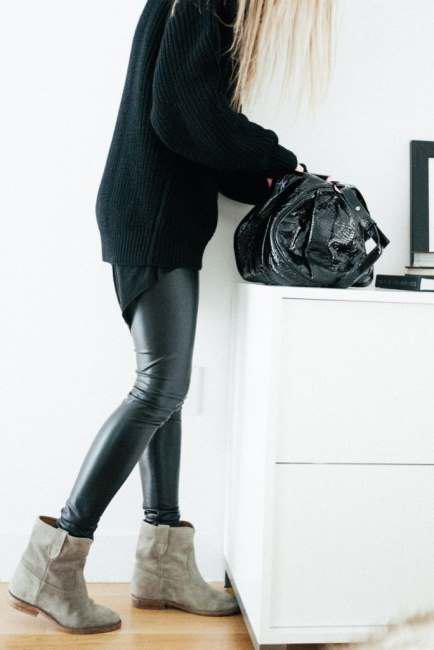 Correct ways to wear leather leggings (2)