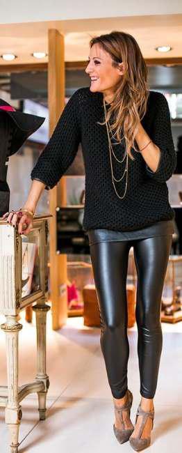 Correct ways to wear leather leggings (4)