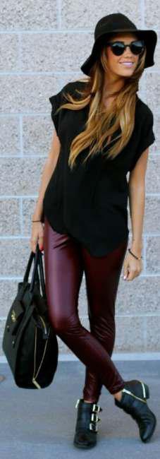 Correct ways to wear leather leggings (5)