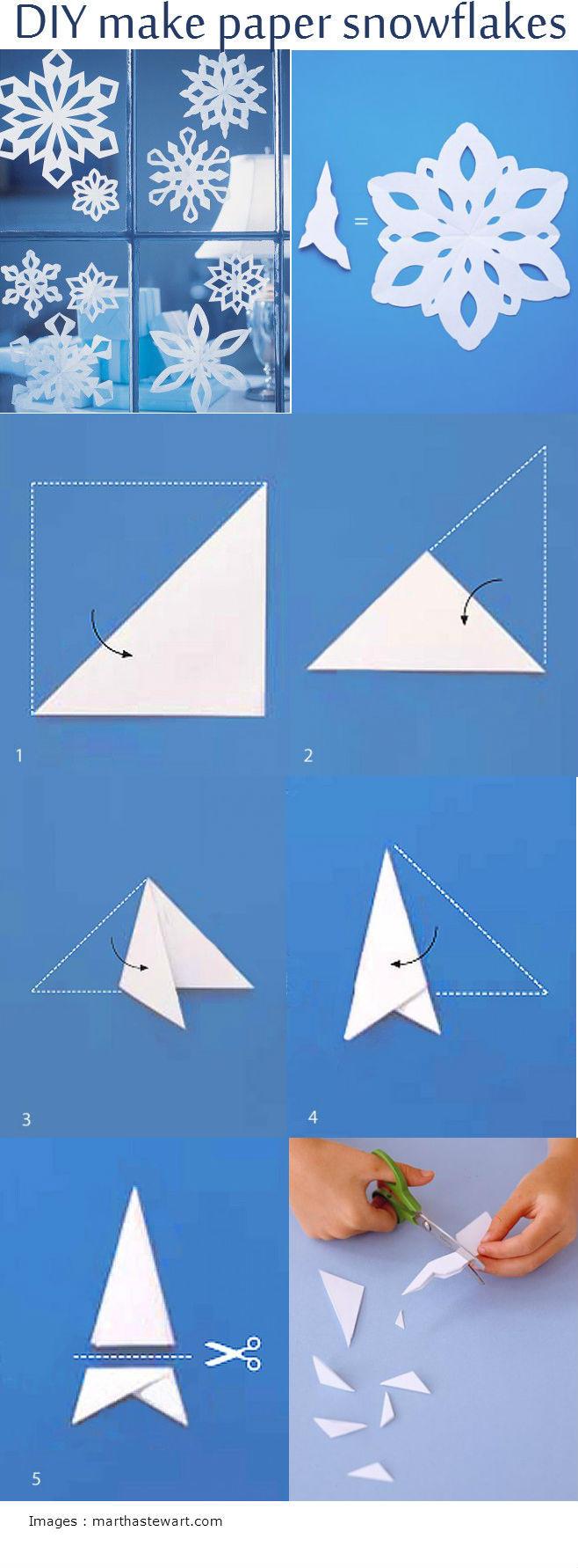 diy make paper snowflakes