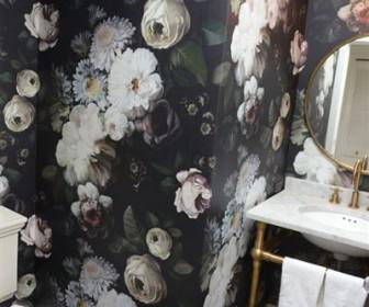 floral tapetsaria 2 336x280 - Διακοσμήστε με σκουρόχρωμη floral ταπετσαρία